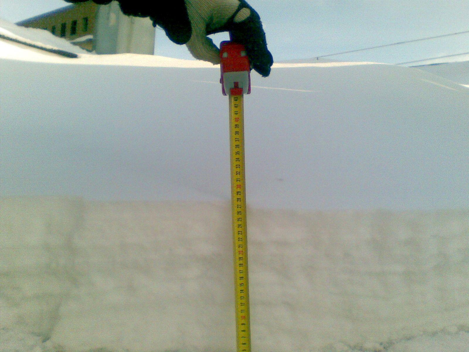 Уборка снега с кровли